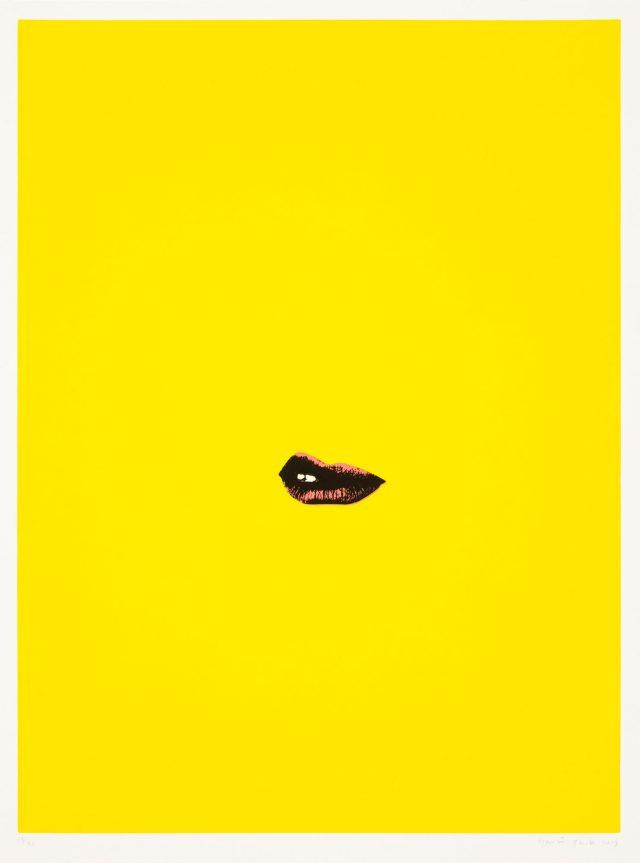 Gavin Turk Sneer Yellow 2013